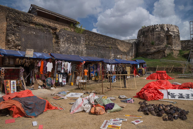 Marché du vieux fort arabe, ville en pierre, Zanzibar, Tanzanie photo libre de droits