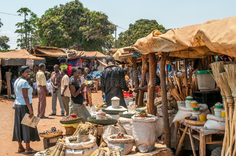 Marché en Livingstone photo libre de droits