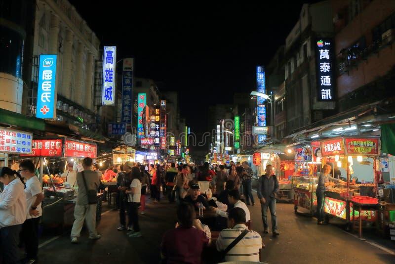 Marché en plein air de nuit de Liuhe Kaohsiung Taïwan photographie stock libre de droits