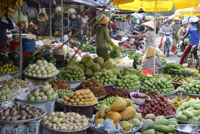 Marché en plein air du Vietnam Phu Quoc photo libre de droits