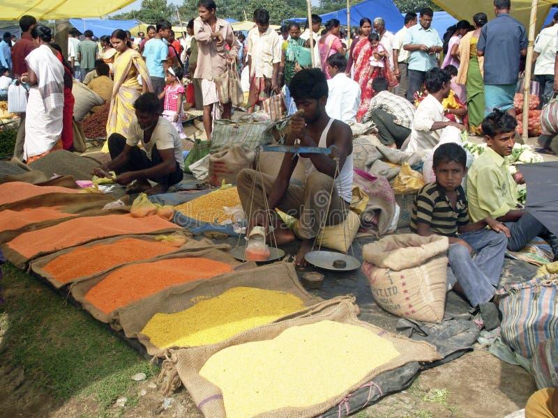 Marché en plein air indien images libres de droits