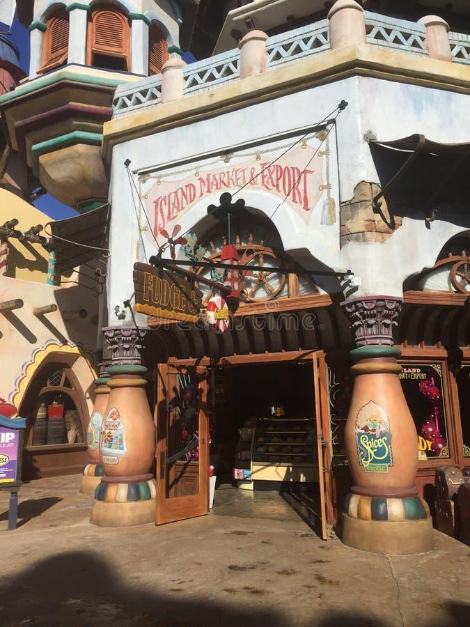 Marché et exportation d'île chez Universal Studios à Orlando, la Floride photographie stock libre de droits