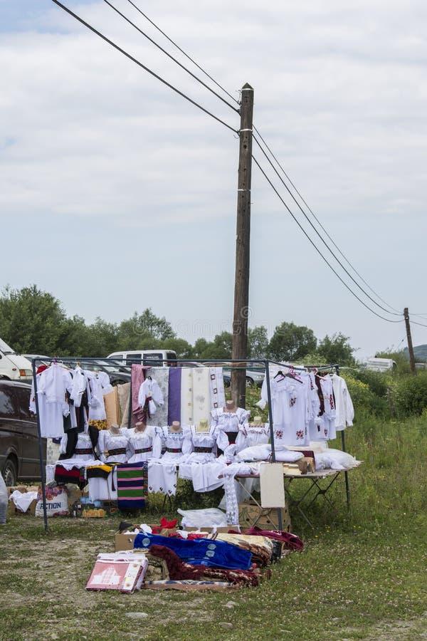 Marché extérieur en Roumanie images stock