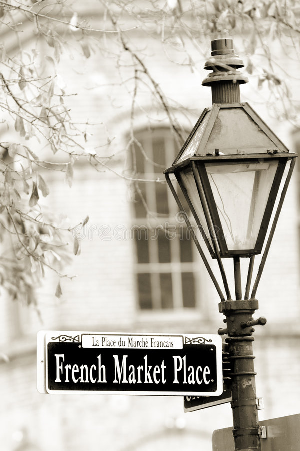 Marché français photo stock