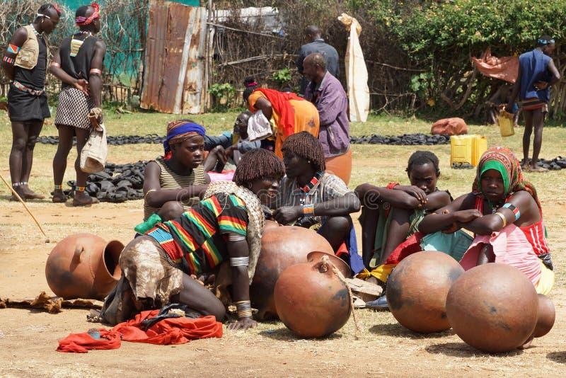 Marché hebdomadaire, Afer principal, Ethiopie, Afrique photo stock