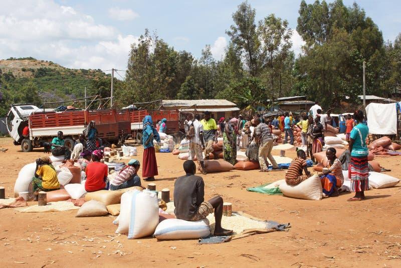Marché hebdomadaire, Afer principal, Ethiopie, Afrique photographie stock libre de droits