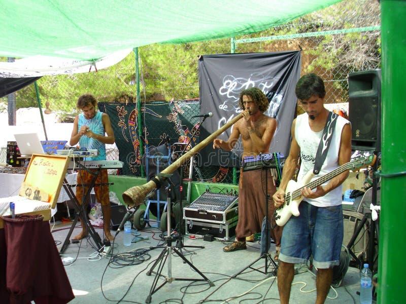 Marché hippie dans Ibiza image libre de droits