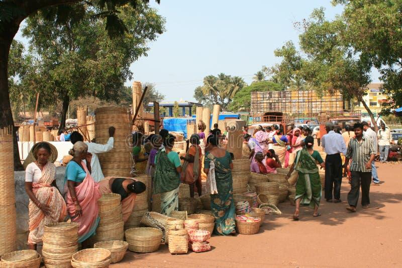 Marché indien image libre de droits