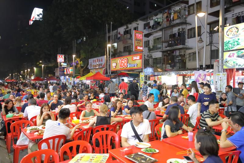 Marché Kuala Lumpur Malaysia de nuit de rue photographie stock