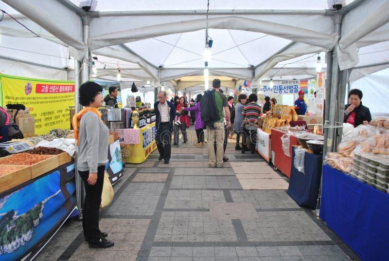 Marché local à Séoul images stock