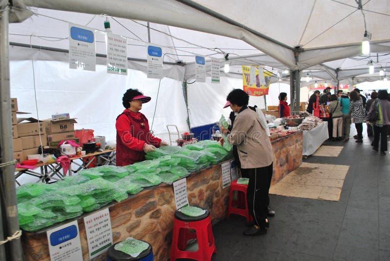 Marché local à Séoul photographie stock libre de droits
