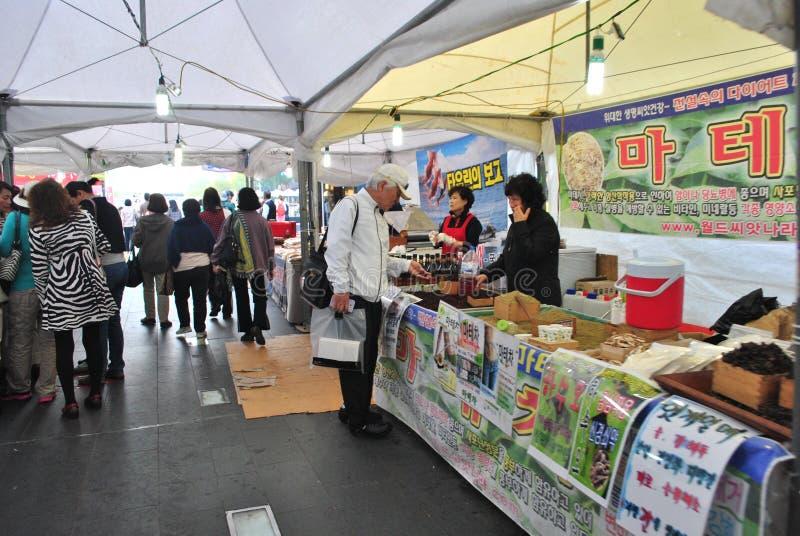 Marché local à Séoul photos stock