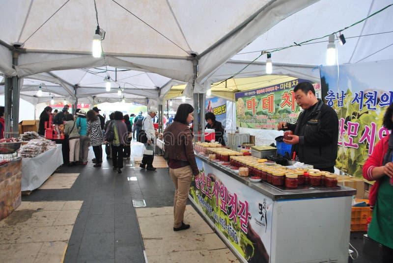 Marché local à Séoul photo stock
