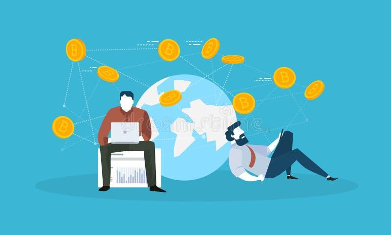 Marché monétaire de Digital illustration stock
