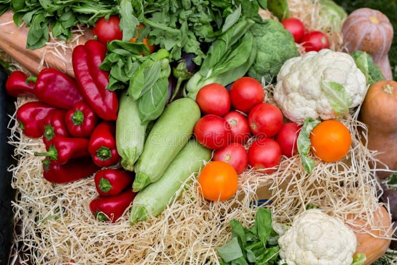 Marché organique de nourriture d'agriculteurs, légumes images stock