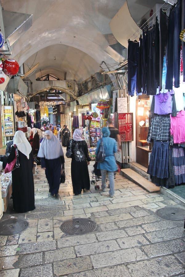 Marché oriental à vieux Jérusalem photos libres de droits