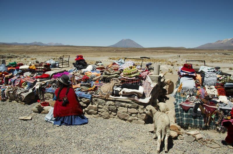 Marché péruvien image libre de droits