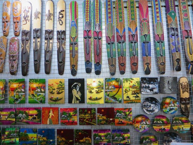 Marché Phuquoc de nuit de totems d'images photographie stock