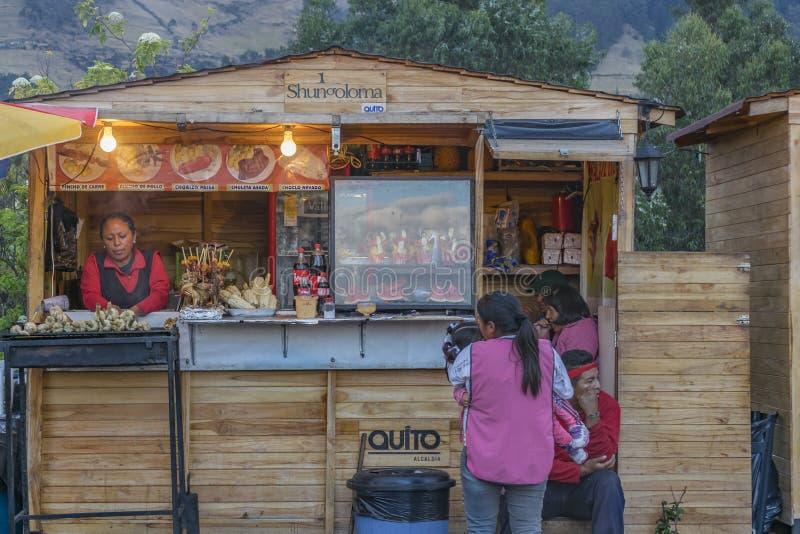Marché Quito Equateur de nourriture de rue de Panecillo image stock