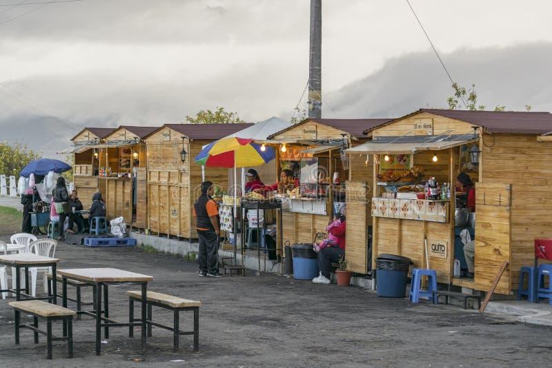 Marché Quito Equateur de nourriture de rue de Panecillo image libre de droits