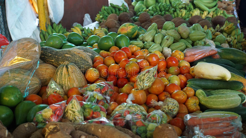 Marché tropical photo stock
