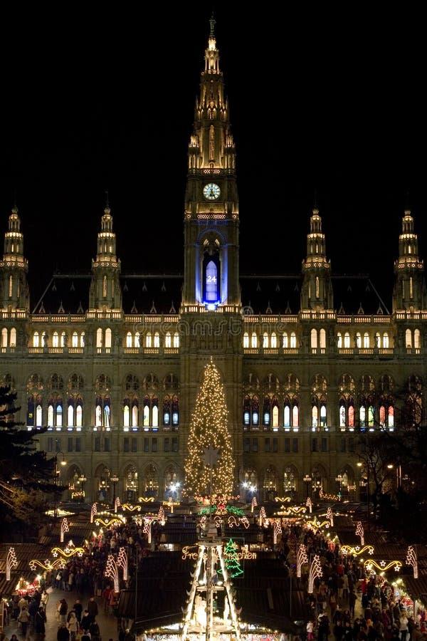 Marché Vienne de Noël images stock