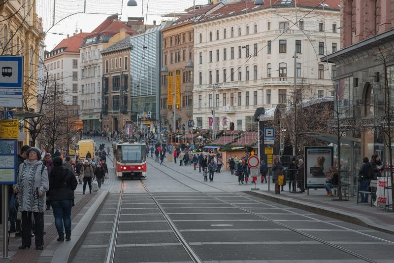 Marchés de Noël chez Liberty Square à Brno photos stock
