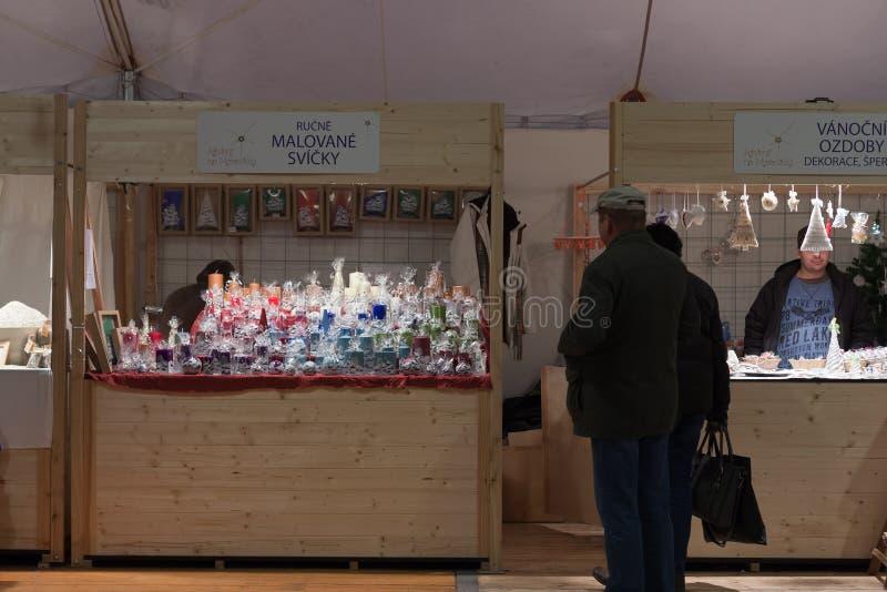 Marchés de Noël sur la place de Moravian photographie stock