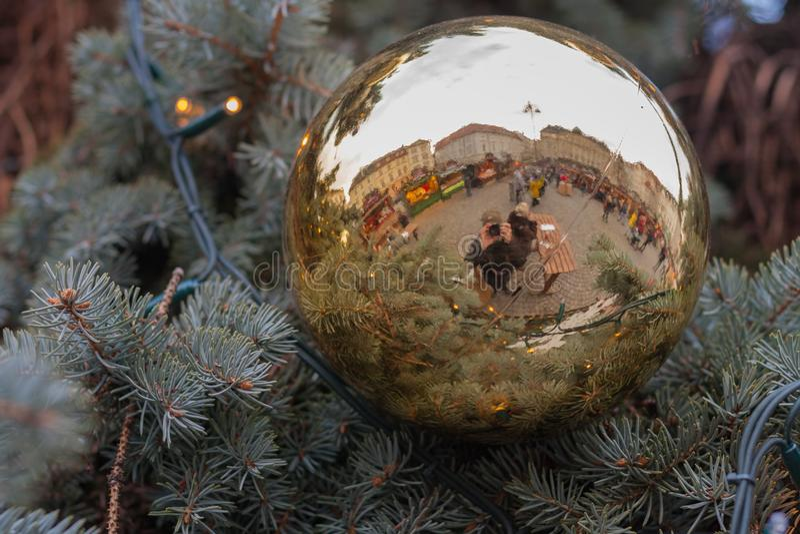 Marchés de Noël sur le marché de chou à Brno photos stock