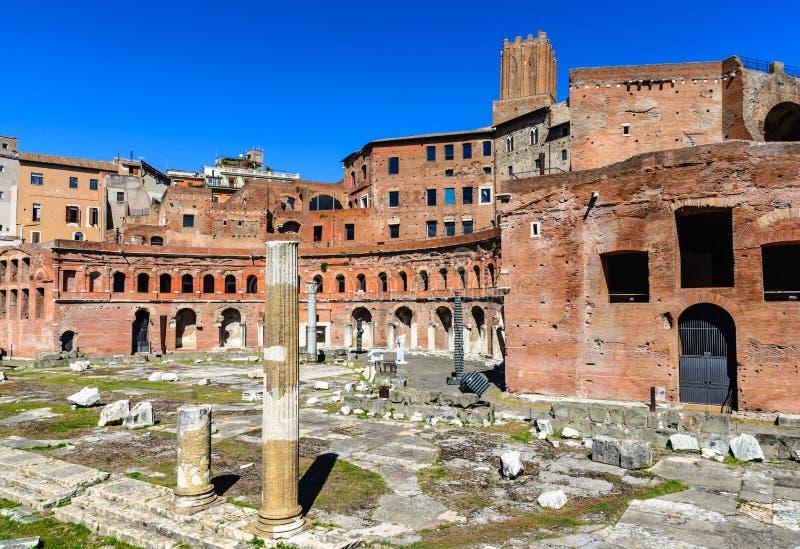Marchés de Trajan, Rome images stock