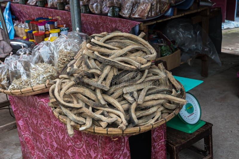 March? asiatique pr?s de Vang Vieng au Laos, Asie photos stock
