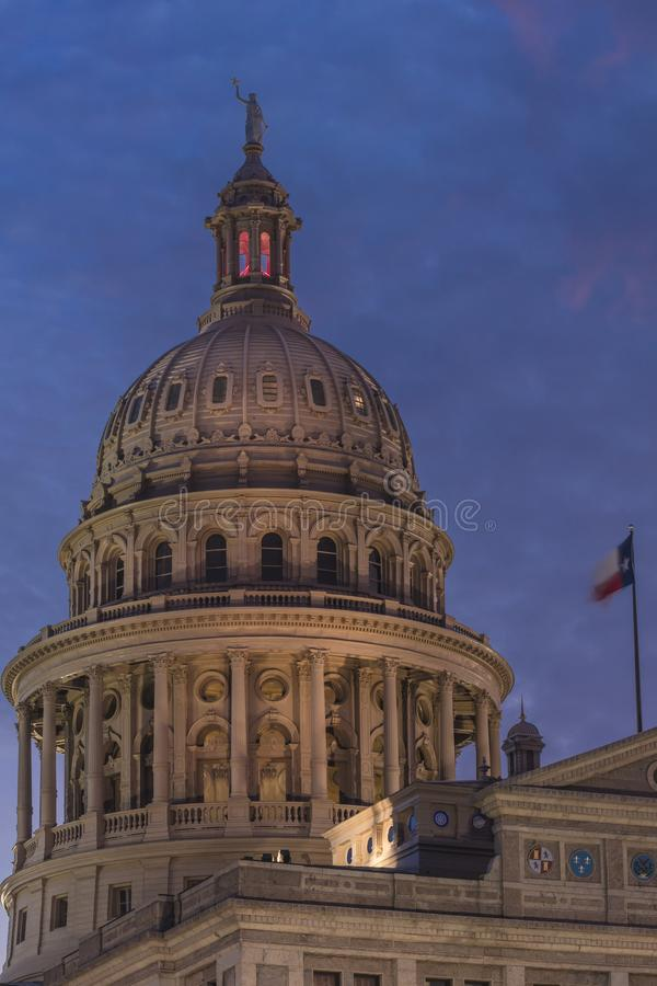 MARCH 1, 2018, ,AUSTIN STATE CAPITOL BUILDING, TEXAS - Texas State Capitol Building at. Capitol, StatesHorizontalLawnMan. MARCH 1, 2018, ,AUSTIN STATE CAPITOL royalty free stock photography
