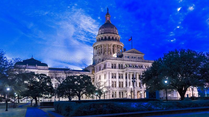MARCH 1, 2018, ,AUSTIN STATE CAPITOL BUILDING, TEXAS - Texas State Capitol Building at. DestinationsUSA, StatesHorizontalLawn. MARCH 1, 2018, ,AUSTIN STATE stock images