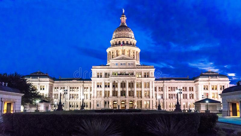 MARCH 1, 2018, ,AUSTIN STATE CAPITOL BUILDING, TEXAS - Texas State Capitol Building at. StructureCityCity, Dusk. MARCH 1, 2018, ,AUSTIN STATE CAPITOL BUILDING stock photos