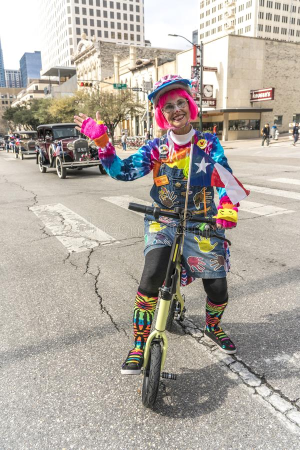 MARCH 3, 2018 - AUSTIN TEXAS - Texans celebrate Texas Independence Day Parade on Congress Avenue . Star, mexico. MARCH 3, 2018 - AUSTIN TEXAS - Texans celebrate stock photography