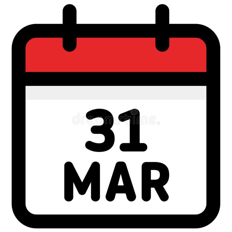 Illustration Calendrier.27 March Calendar Icon Vector Illustration Stock Vector