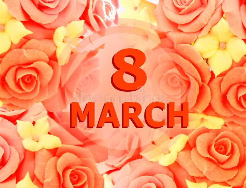 March 8 festive background. Background for holiday, weddings, birthdays and particular days. March 8 festive background vector illustration