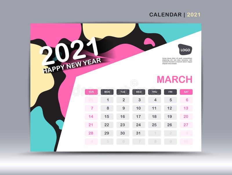 Csun 2022 Calendar.March Month Layout Desk Calendar 2021 Template With City Vector Illustration Wall Calendar Planner Stock Vector Illustration Of March Building 196737757