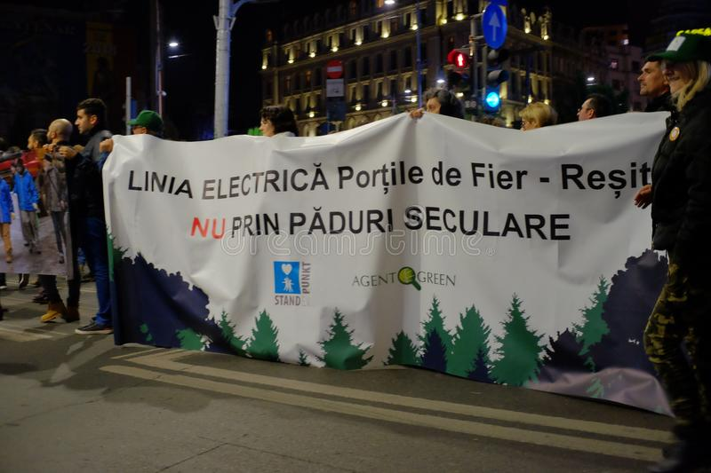 The march for forests in Bucharest, Romania. royalty free stock photography