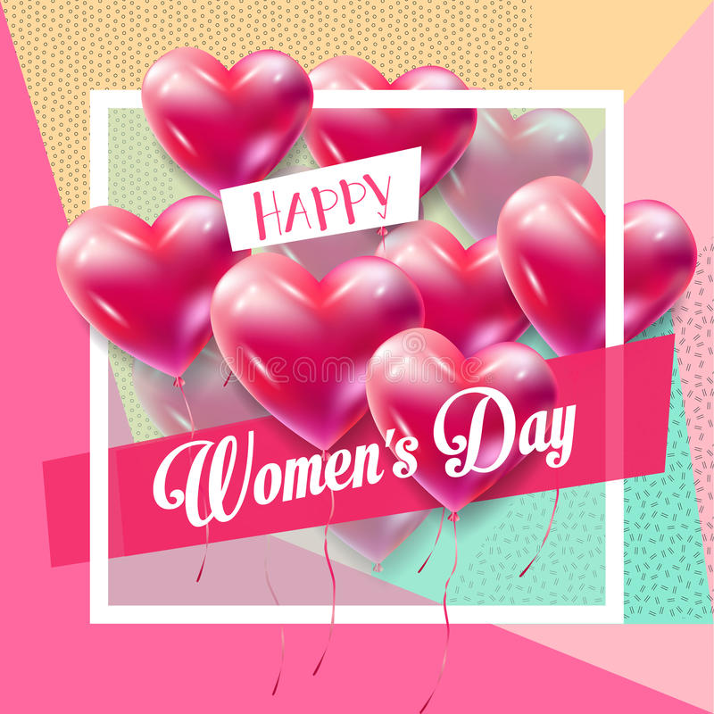 Womans Day retro vector illustration