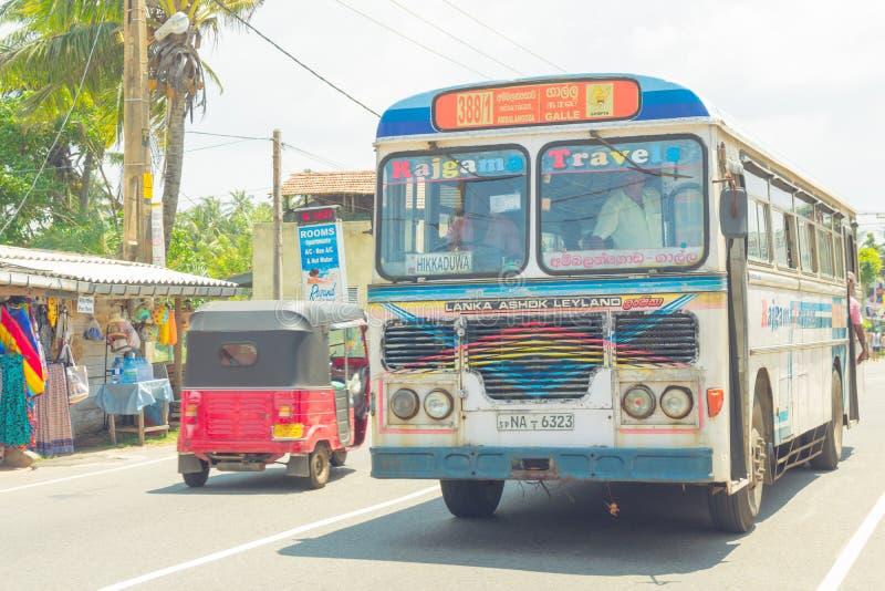 March 2, 2018. Hikkaduwa, Sri Lanka. stock image