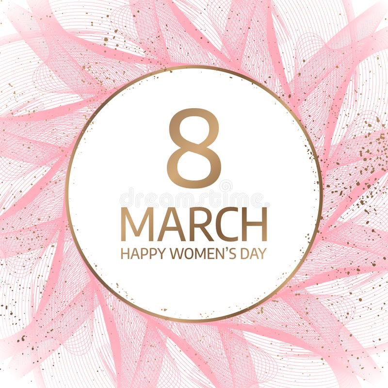 8 March. International Happy Women`s Day. Floral greeting card. vector illustration