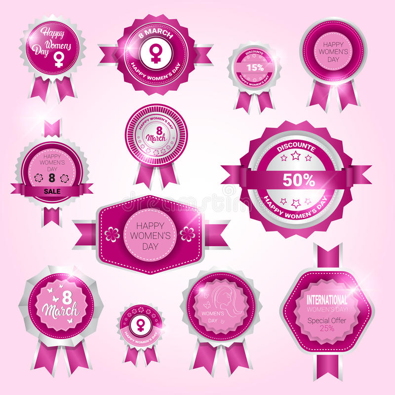 Download 8 March International Women Day Sale Shopping Discount Tag Set Stock Vector - Illustration of collection, celebration: 86363362