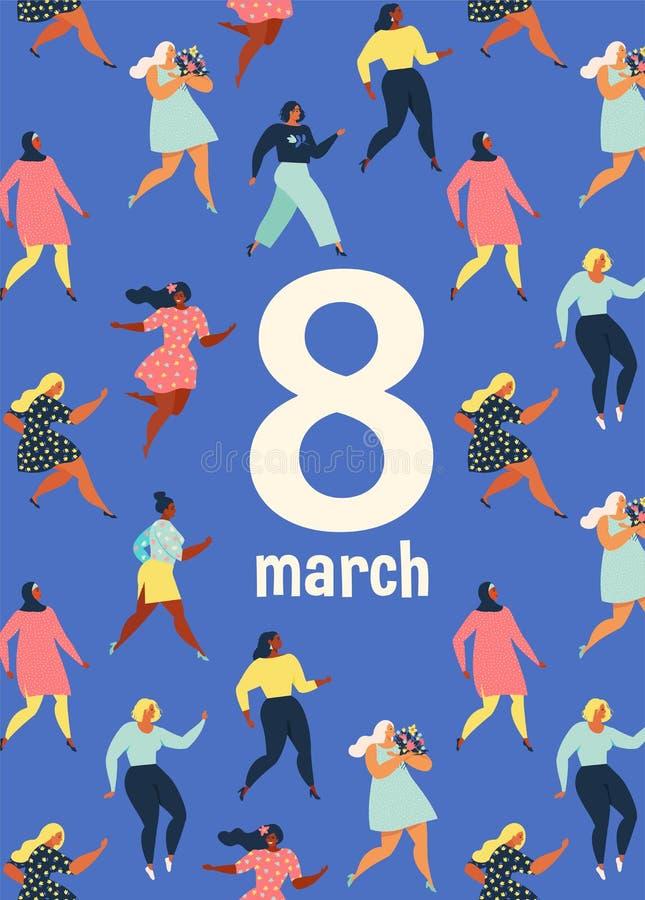 8 march, International Womens Day. Feminism concept template design. Vector illusttation. vector illustration