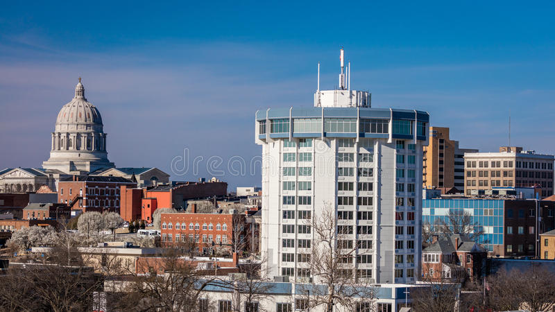 MARCH 4, 2017 - JEFFERSON CITY - MISSOURI - Missouri state capitol building in Jefferson City royalty free stock images