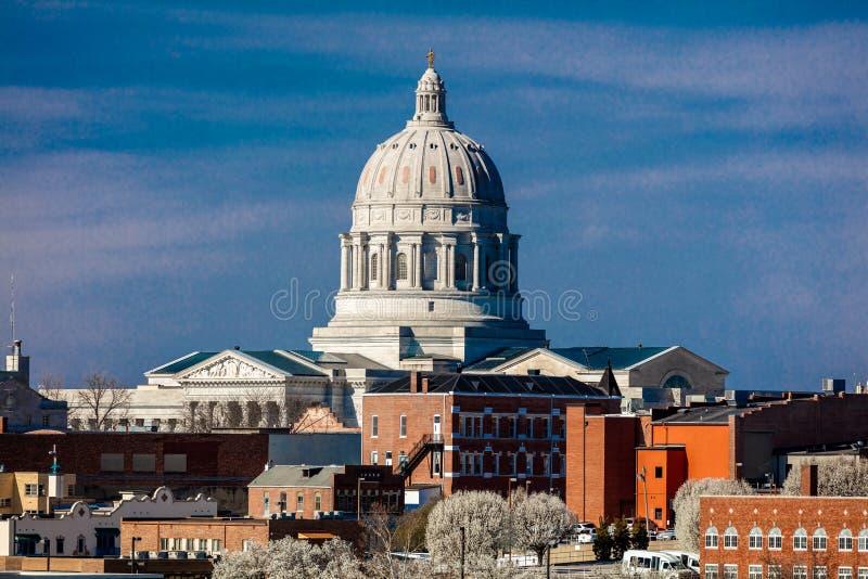 MARCH 4, 2017 - JEFFERSON CITY - MISSOURI - Missouri state capitol building in Jefferson City stock photos