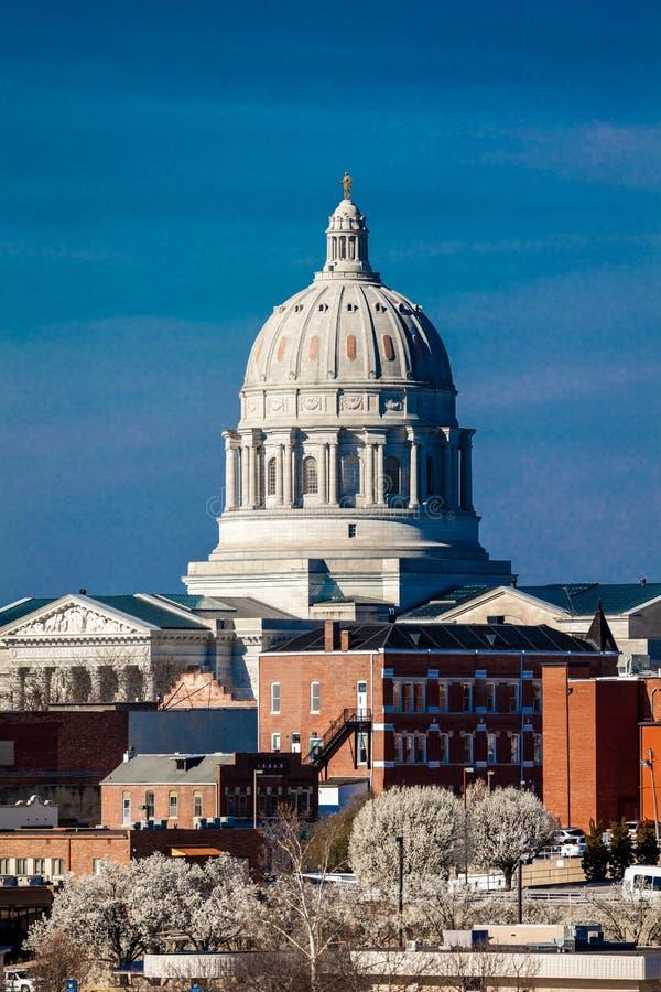MARCH 4, 2017 - JEFFERSON CITY - MISSOURI - Missouri state capitol building in Jefferson City royalty free stock photography