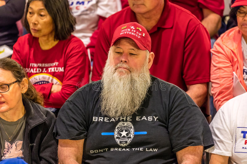 MARCH 4, 2017 - JEFFERSON CITY - President Trump Supporter Hold Rally, Jefferson City, State Capitol of Missouri stock image