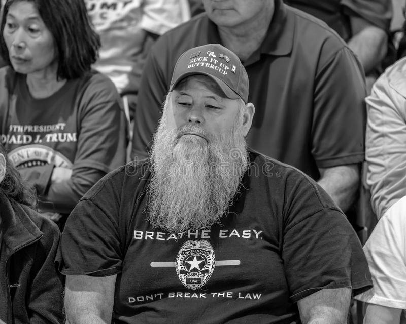 MARCH 4, 2017 - JEFFERSON CITY - President Trump Supporter Hold Rally, Jefferson City, State Capitol of Missouri stock photography