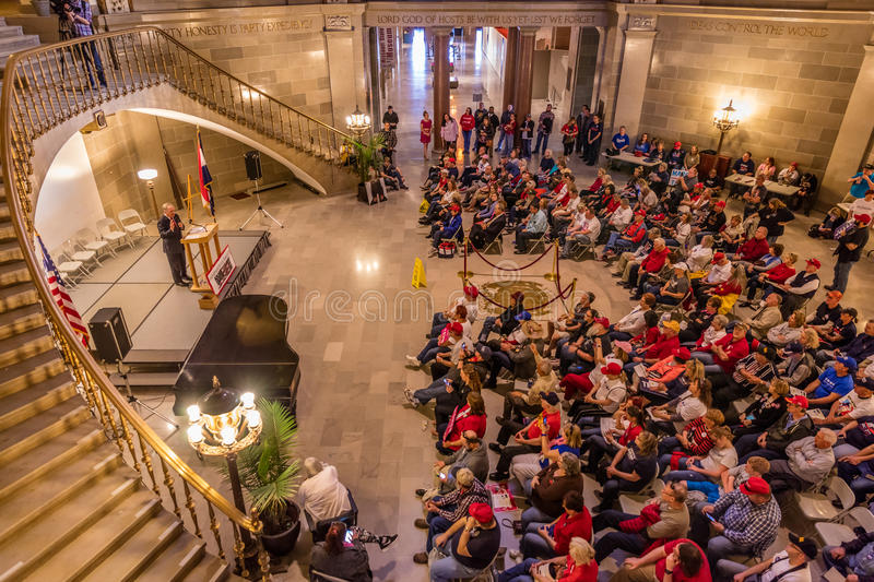 MARCH 4, 2017 - JEFFERSON CITY - President Trump Supporters Hold Rally, Jefferson City, State Capitol of Missouri royalty free stock photography